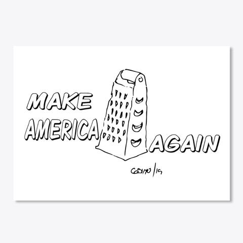 Cheese Sticker- MAKE AMERICA GRATER AGAIN