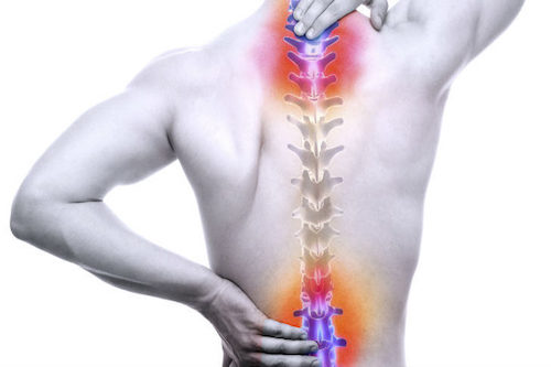 Conditions commonly linked to back pain include: Muscle or ligament strain. Repeated heavy lifting or a  sudden  awkward movement can strain back muscles and  spinal  ligaments. If you're in poor physical condition, constant strain on your back can cause painful muscle spasms