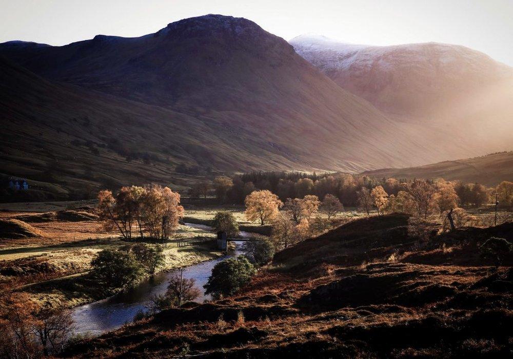 Light through the valley, Glen Lyon
