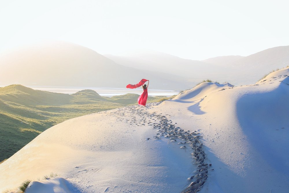 In the sand dunes, Luskintyre