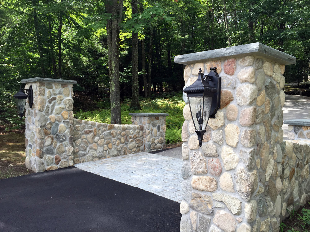 Retaining wall by landscapers near me in Belmont, MA
