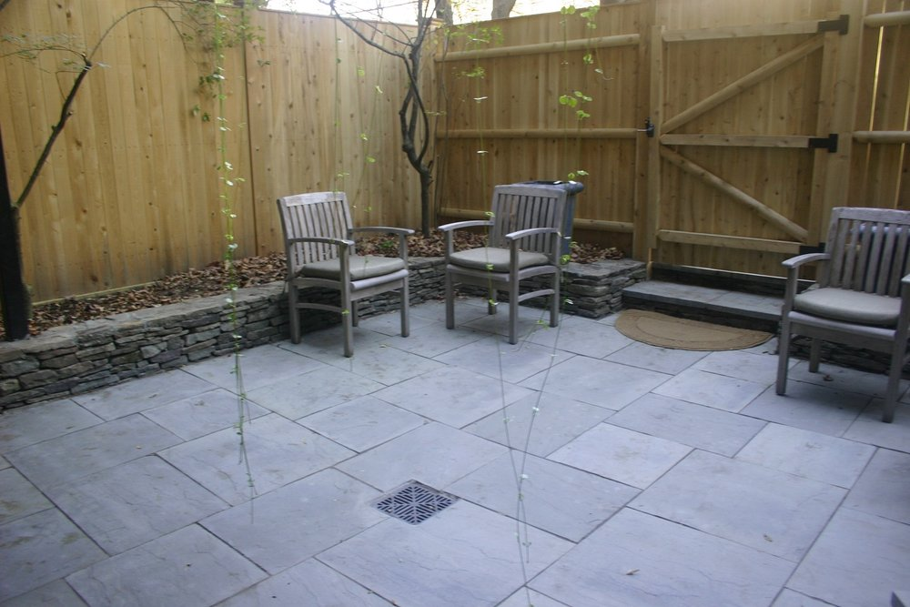 Stunning and durable bluestone patio in Arlington, MA