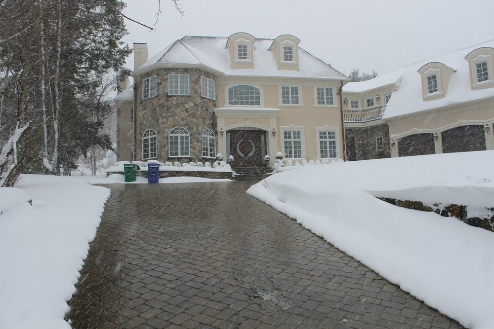 Paver Driveway in Lincoln MA with installed snowmelt system