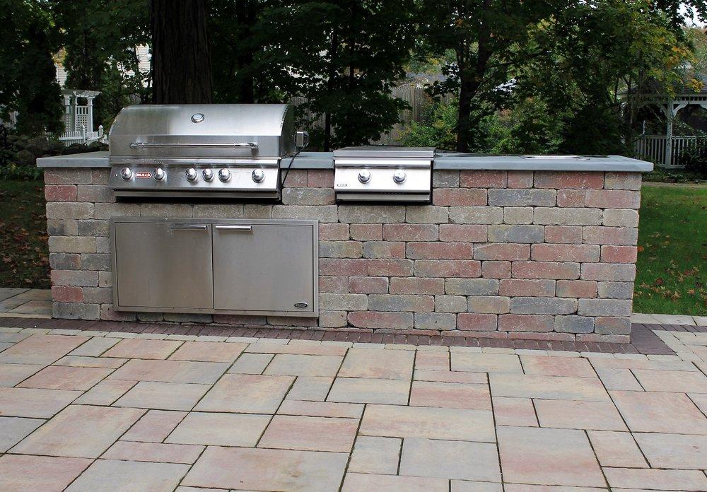 Beautiful outdoor kitchen in Wellesley, MA