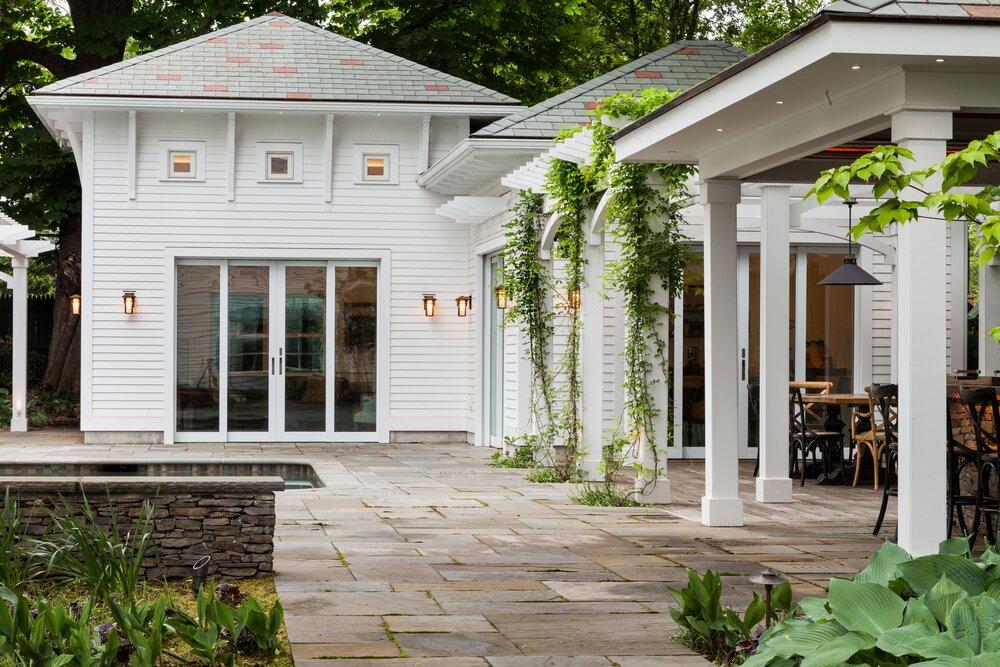 Patio Permeable Pavers Wellesley Ma Landscape Design Lexington