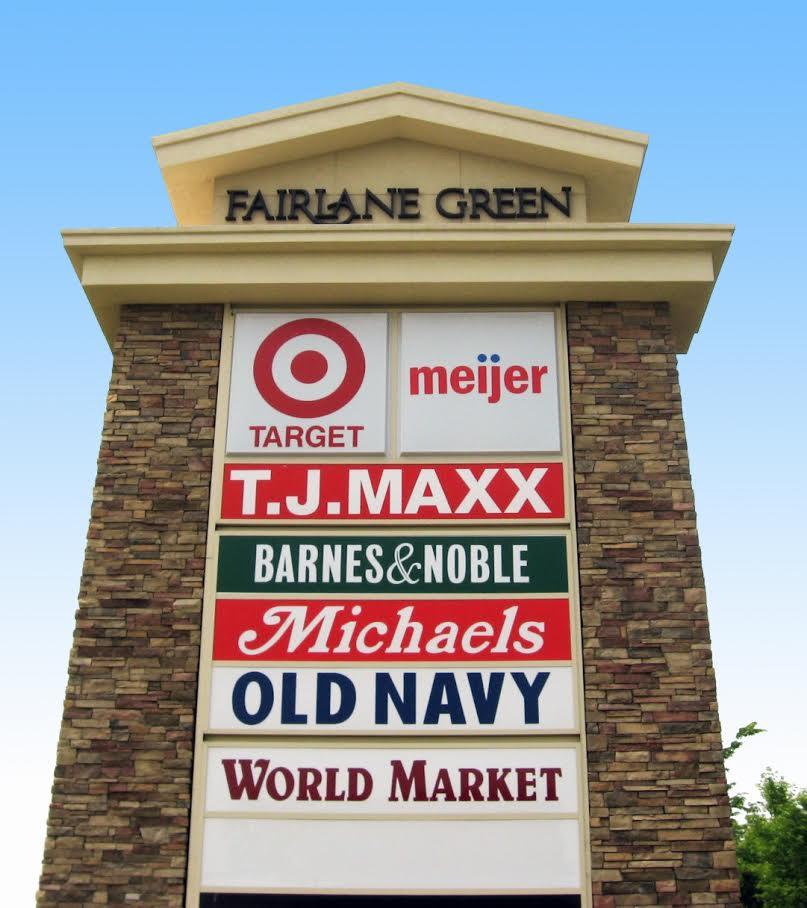 Shopping Center Monument Signage
