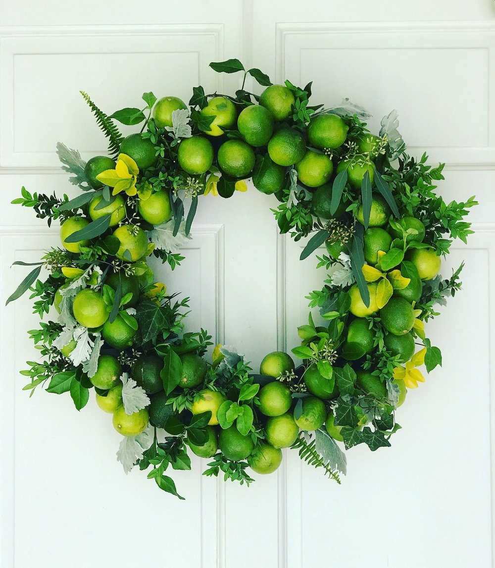 Entryway Wreath for Cinco do Mayo Party at Private home atop Lookout Mountain