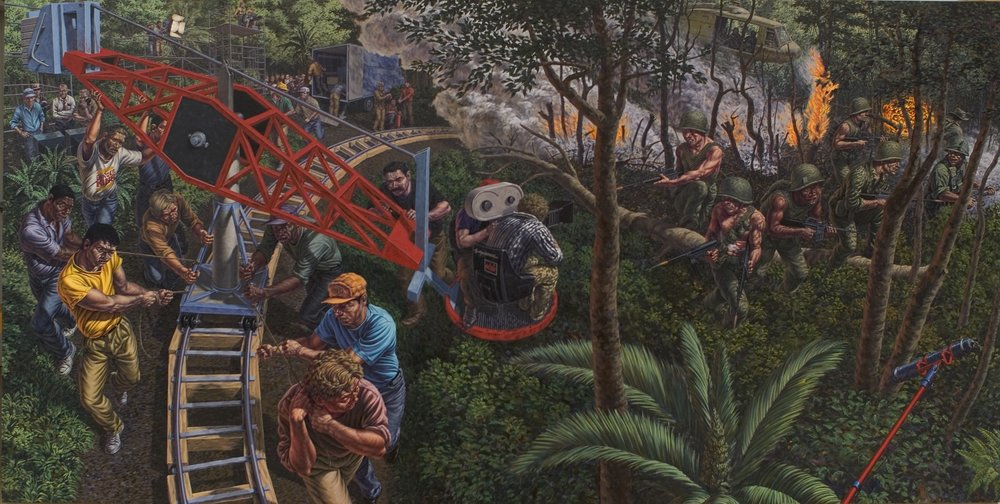 """HESS, """"Tracks in the Jungle"""", 1990"""