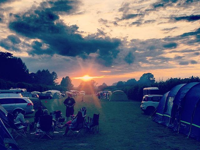 #sunset over the campsite tonight #Rushbanks #RushbanksFarm #DedhamVale #Suffolk #Essesx #RiverStour #Colchester #Camping #Campsite