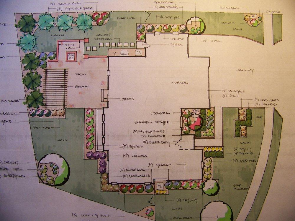 2D landscape design in East Peoria, IL