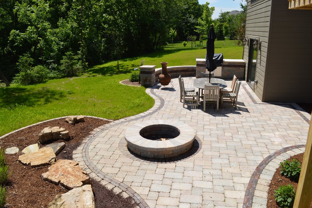 Patio with fire pit in Eas Peoria, IL