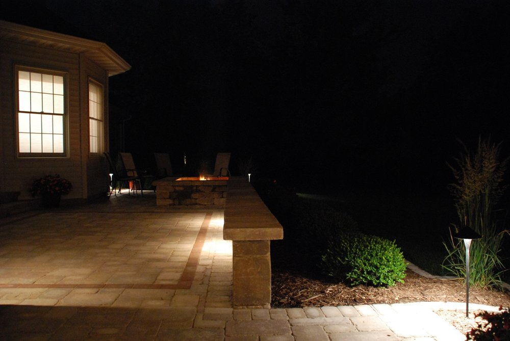 Copy of Copy of Outdoor lighting and retaining wall in East Peoria, IL