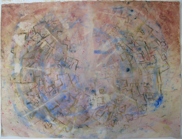 Phosphene Dream - Painting by David Rosenboom  ca. 1969 used in projections for this event