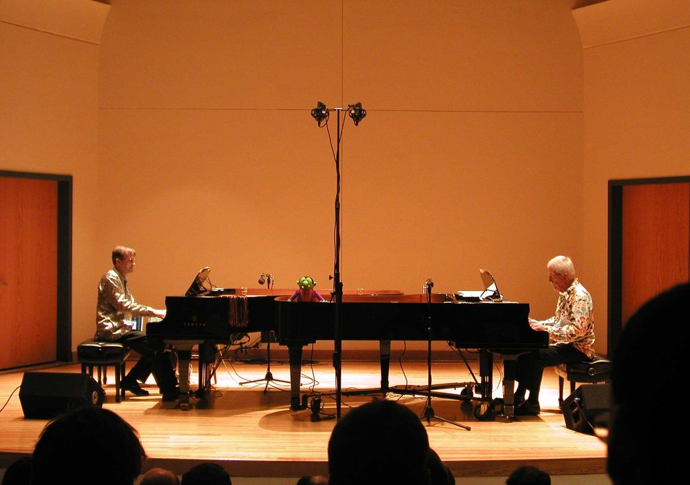 Halloween Concert—David Rosenboom and J.B. Floyd performing at the University of Miami on October 31st, 2004