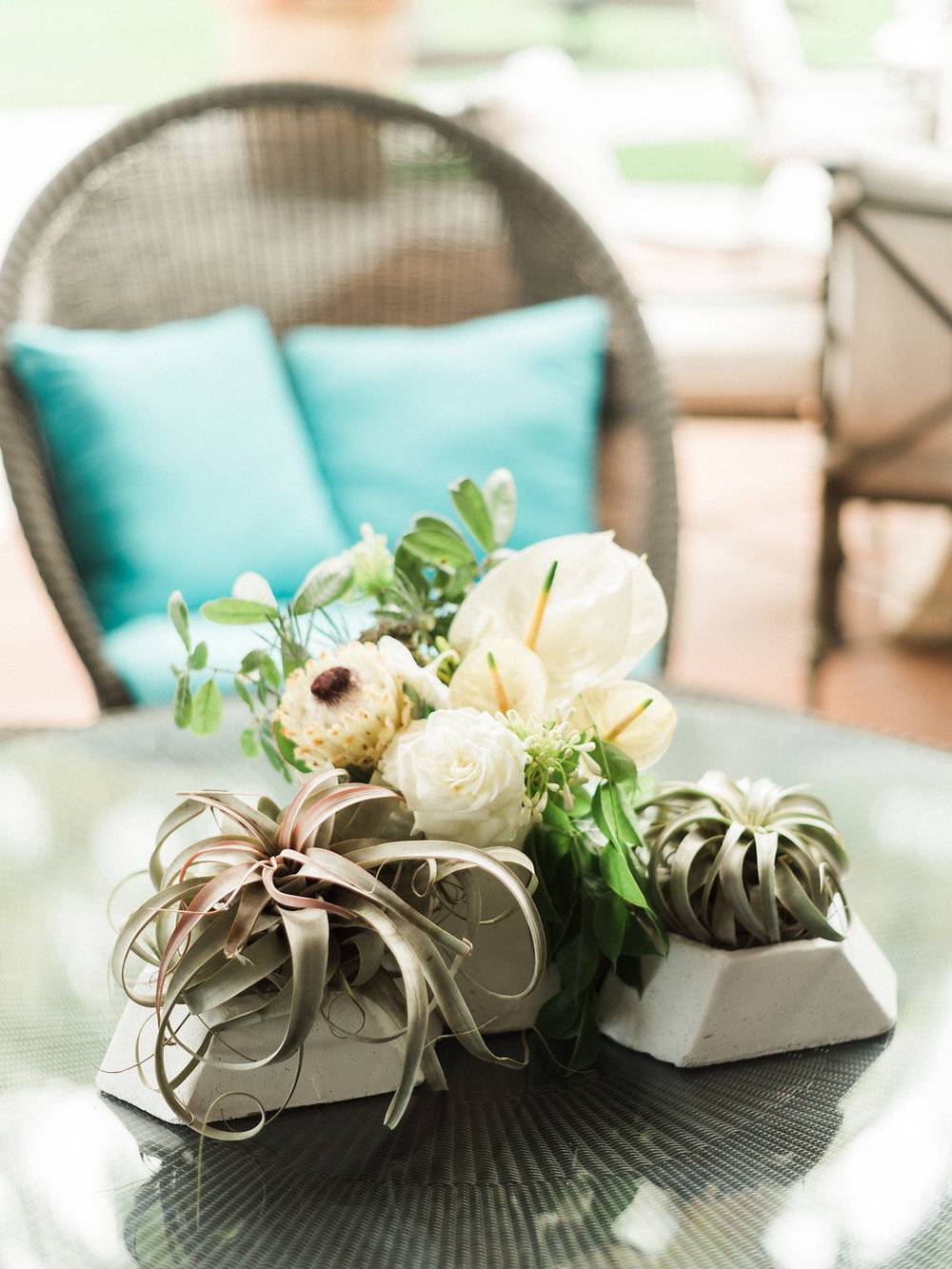 Jet Set Wed :: Modern Soiree with Succulents, Airplants, & Agates