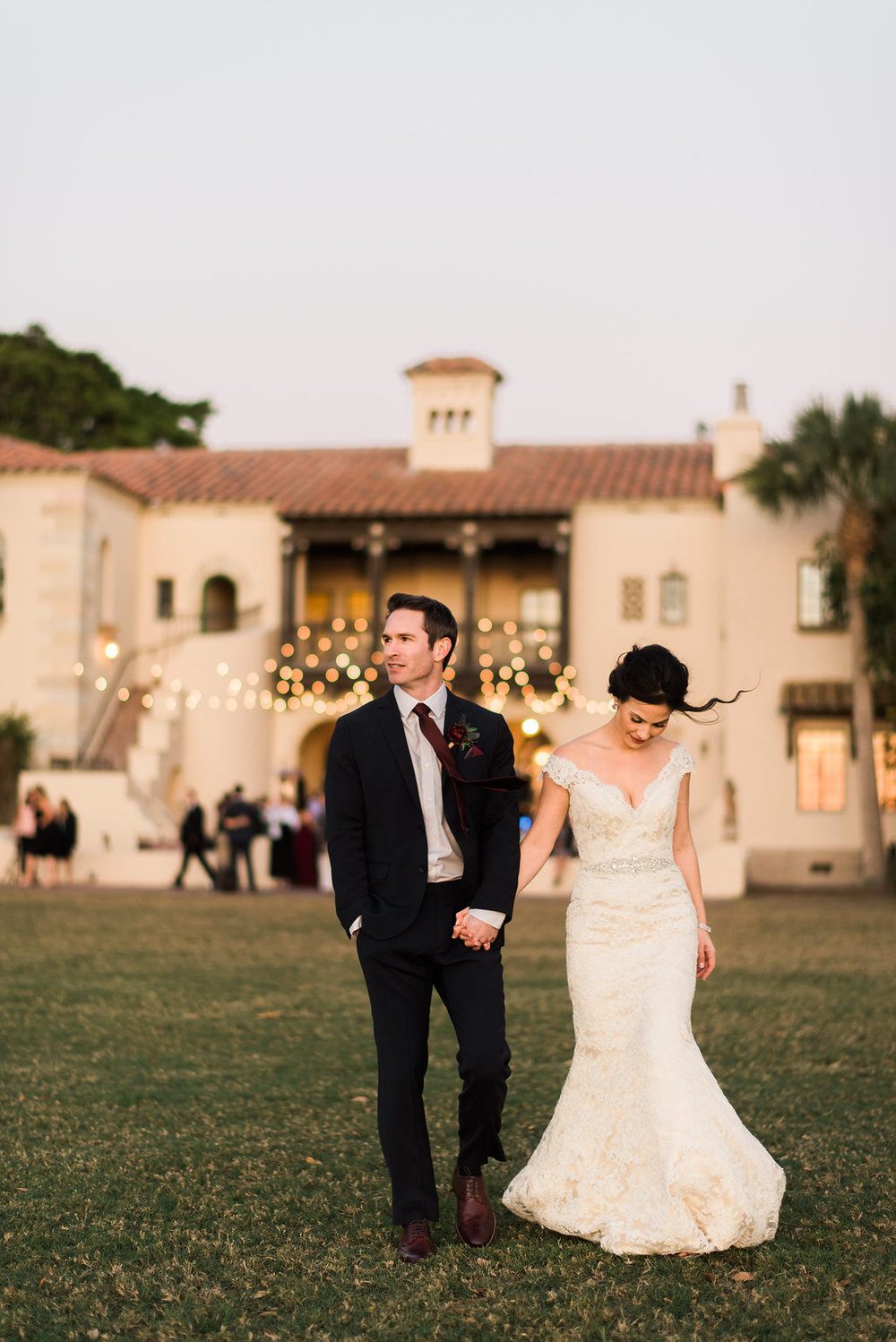 Jet Set Wed :: Candlelit Riverside Romance In Berry & Blush