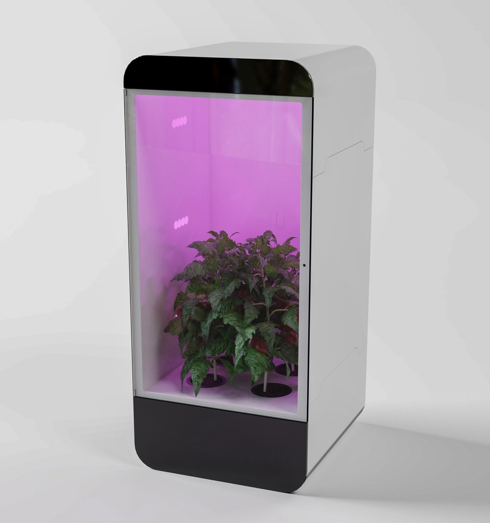 Oasis uses Hydroponics to grow any herb or vegetable with ease.