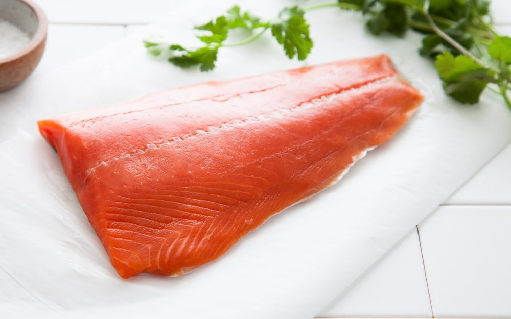 Our sockeye salmon. Photo courtesy of the good people at Good Eggs.