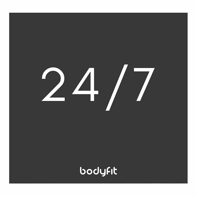 24 hours a day. 7 days a week. . BodyFit is  O P E N  for you. . Get membership details    Link in profile!