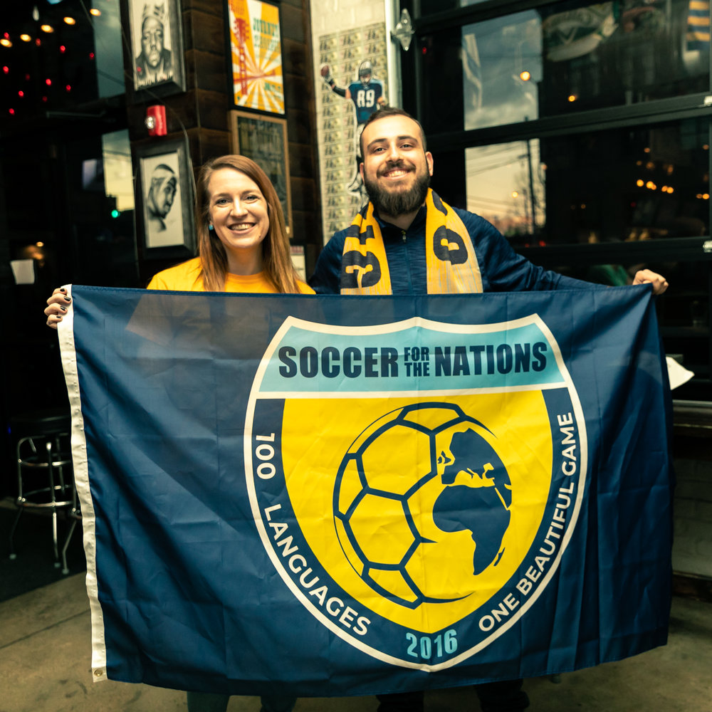 Soccer for the Nations co-directors Lexi Robinson and Valair Shabilla
