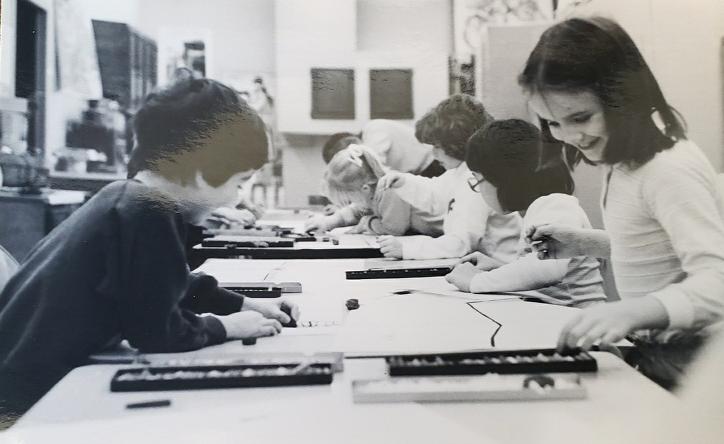 An early arts education class