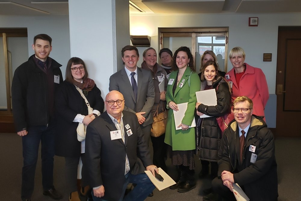 Arts Advocacy Day Team (including Artistry Executive Director Andrea Specht) with Rep. Michael Howard