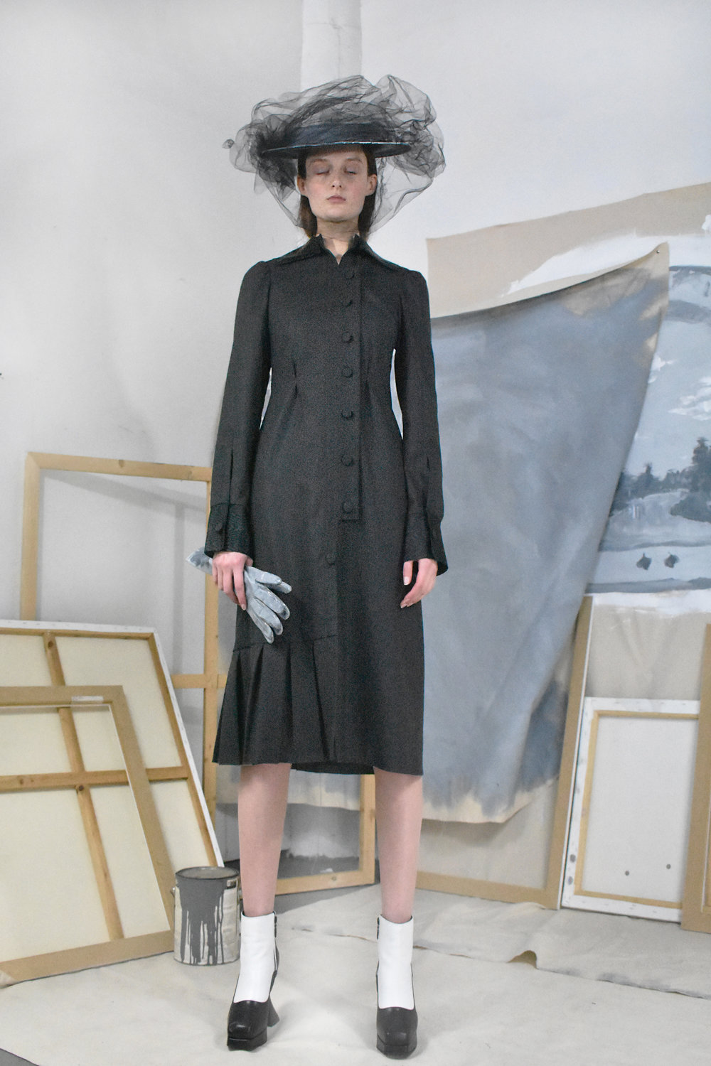 Black Wool Check Dress.jpg