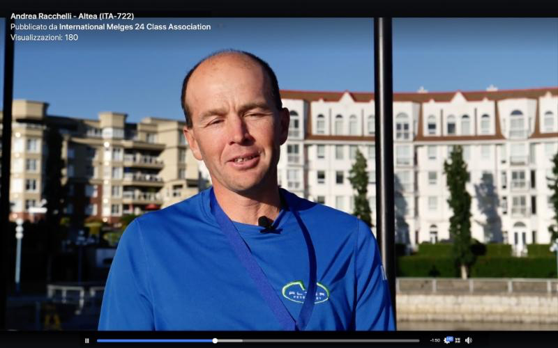 The interview with the new Melges 24 World Champion - Andrea Racchelli, helmsman of ITA722 Altea. Filmed and edited by Zerogradinord.