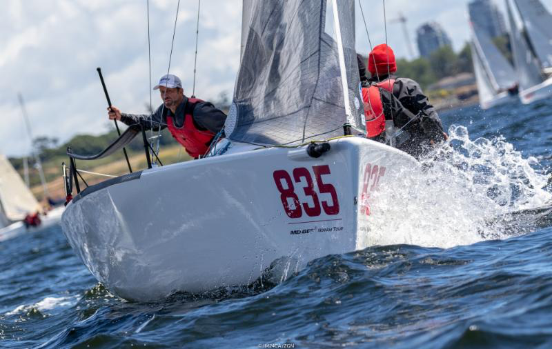 The boat of the day was 2017 Worlds Bronze medal team - Kevin Welch/Jason Rhodes' Mikey USA835, scoring third place from the first and two bullets from the two final races of the day. - Photo (c)IM24CA/Zerogradinord