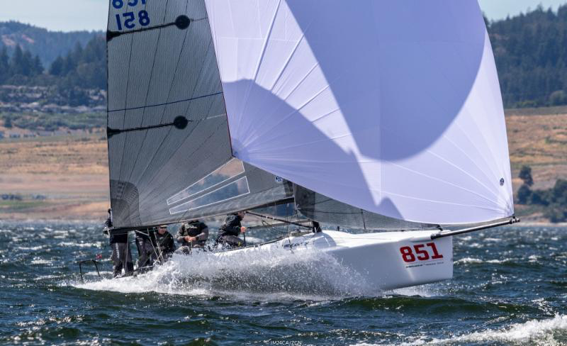 Winning Bronze was 2017 Melges 24 Worlds runner-up, Bruce Ayres' Monsoon USA851 with Mike Buckley calling the tactics and with Chelsea Simms, George Peet and Jeff Reynolds in crew.- Photo (c)IM24CA/Zerogradinord