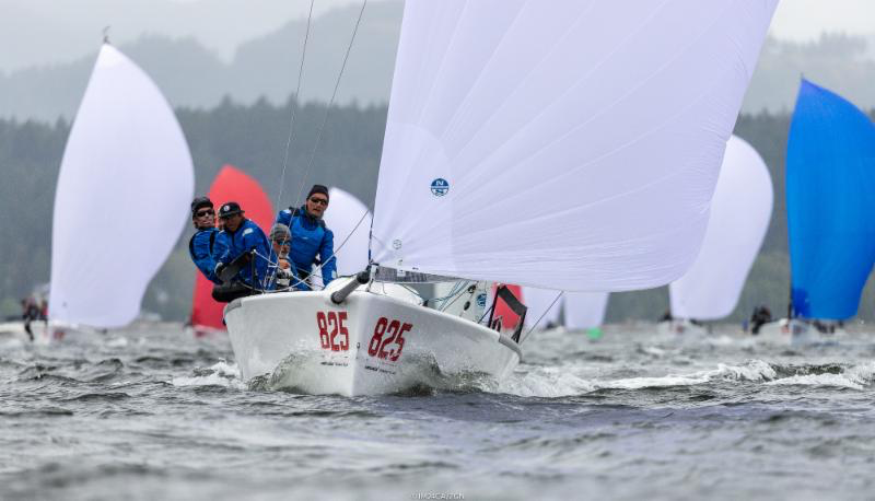 Winner of the first race of the day was Michael Goldfarb's War Canoe USA825, jumping to fourth position in the overall ranking after Day Four. - Photo (c)IM24CA/Zerogradinord