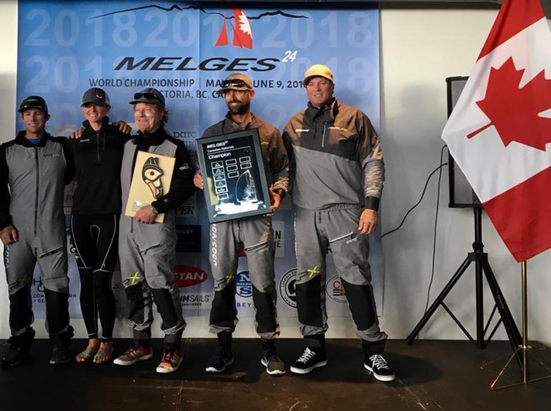 Bruce Ayres' Monsoon USA851 with Mike Buckley, Jeff Reynolds, George Peet, Chelsea Simms in crew - 2018 Melges 24 Canadian Champions - photo IM24CA