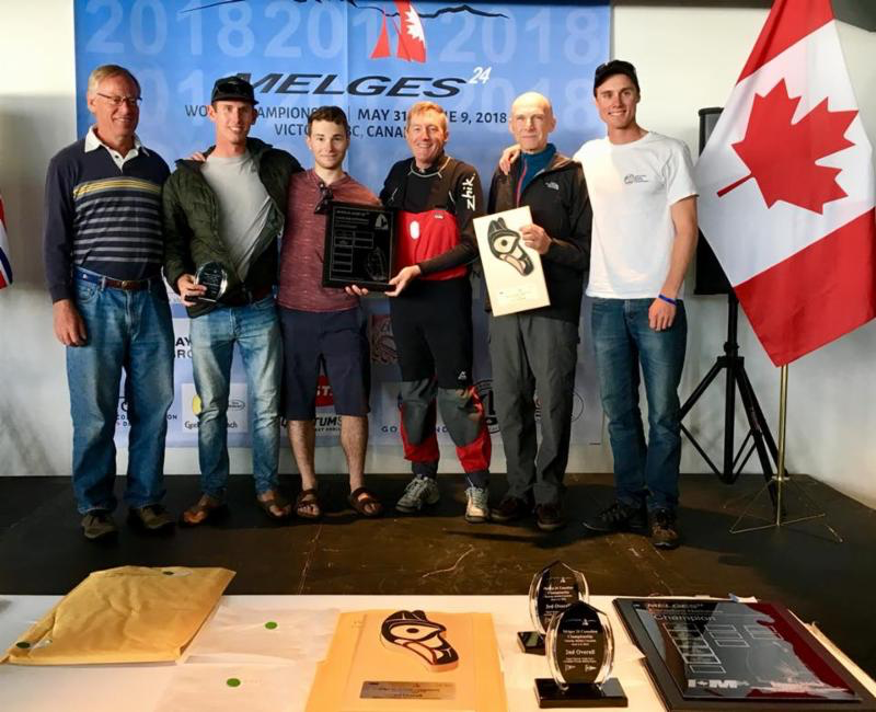 Robert Britten's Full Circle CAN415 with Graham Harney, Jose Grandizo, Liam Welgan Gunn and Reid Cannon - Melges 24 Corinthian Champion 2018 - photo IM24CA