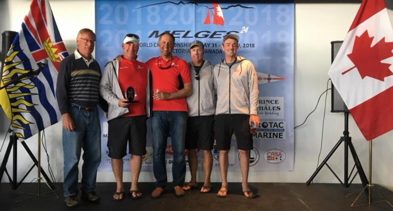 Richard Reid's Zingara CAN853 with Scott Nixon, Mike Wolfs and Billy Gooderham - the best Canadian team 2018 - photo IM24CA
