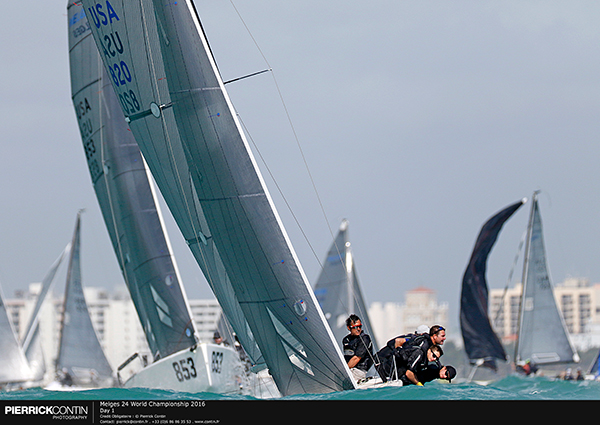 2016 Melges 24 US National Champion, Olympian, and two-time Moth World Champion Bora Gulari on  West Marine Rigging , who placed fifth at Miami and 2nd overall in the  2016 Melges 24 NorAm Tour , will again steer West Marine Rigging in Act2 of the series.  Joining this star-studded fleet is Kevin Welch's  Mikey , which was steered by Soling Olympic medalist Jeff Madrigali to finish 2nd overall in the 2016 Melges 24 NorAm Tour. Welch's  Team Mikey  hopes to podium at Charleston Nationals, and in the overall Quantum World Winter Series before the fleet heads to the Columbia River Gorge, his backyard, for the  Melges 24 NorAm Championship  in July.  Top Corinthian teams like Megan Ratliff's  Decorum  and KC Shannon's  Shaka  as well as top-10 Miami Worlds finishers- Mike Brown's  Blind Squirrel  (7th), Peter Duncan's  Jigs in Space  (8th), and last year's M24WWS 2nd overall Travis Weisleder's  Lucky Dog  (9th) have a good chance to podium at the physics lesson that is the Charleston Harbor current.  Please see the current M24QWWS standings,  here .