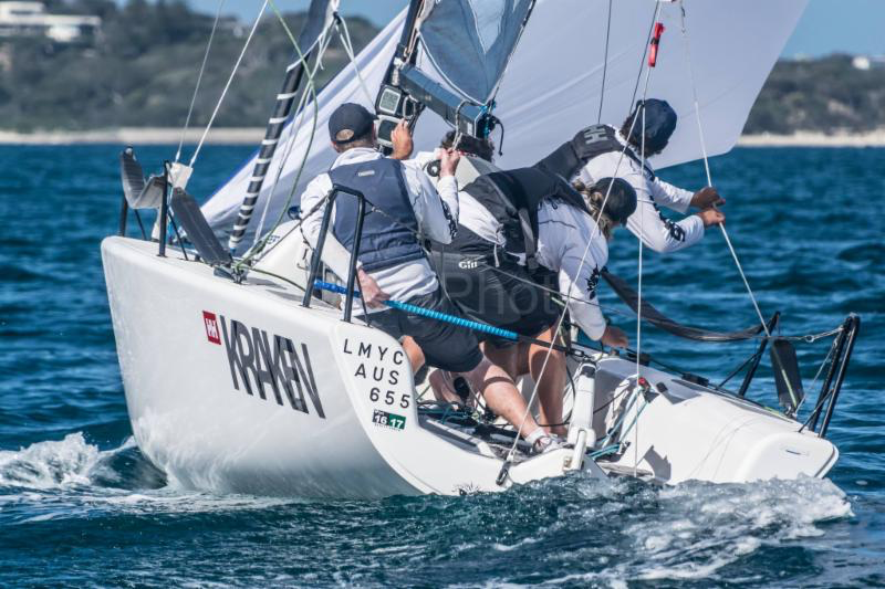 The winner of the Melges 24 Australasian / Asia Pacific Ranking 2016 - Dave Young and Kraken AUS655 at the Helly Hansen Melges 24 Australian Nationals in Blairgowrie in February 2017 - photo (c) Ally Graham