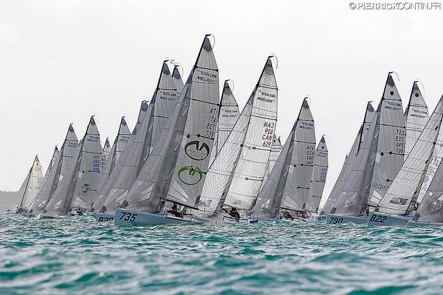 Melges 24 fleet at the Melges 24 World Championship 2016 in Miami - photo (c) Pierrick Contin