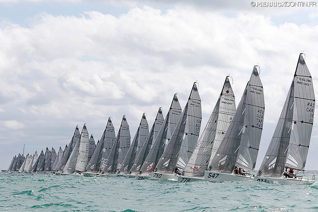 Melges 24 fleet at the 2016 Melges 24 World Championship - Miami - photo (c) Pierrick Contin contin.fr
