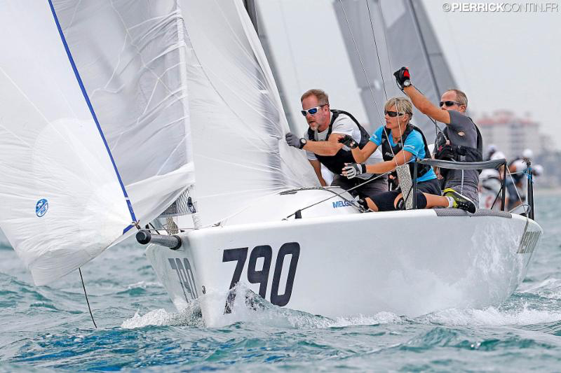Tõnu Tõniste's Lenny EST790 - 2016 Melges 24 World Championship - Miami - Day 4 - photo (c) Pierrick Contin