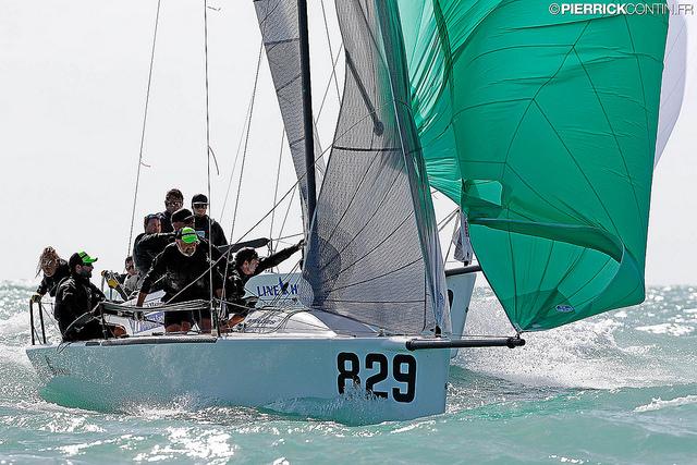 Conor Clarke's Embarr IRL829 - 2016 Melges 24 World Championship - Miami - Day 3 - photo (c) Pierrick Contin