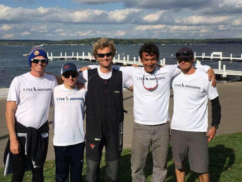 Bora Gulari's team West Marine Rigging - the winner of the 2016 Line Honors US Melges 24 Championship at Lake Geneva, Wisconsin
