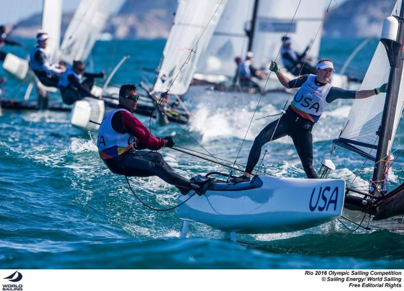 Bora and crew Louisa Chafee were successful in securing a spot on the 2016 US Olympic Sailing Team - photo (c)Sailing Energy/World Sailing