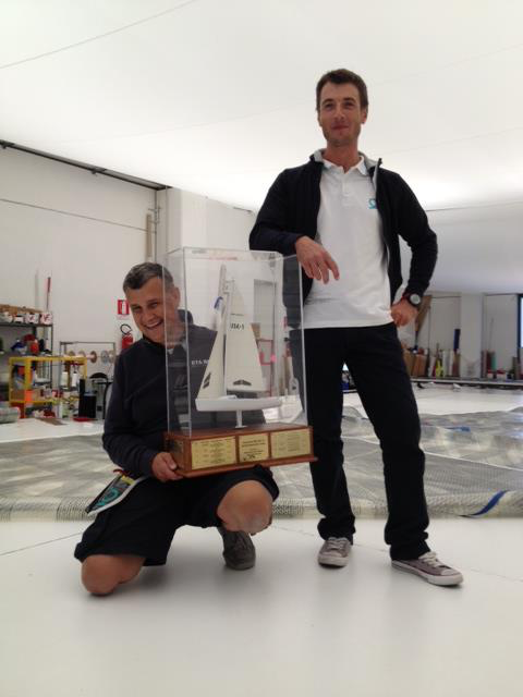 Carlo Fracassoli and Manlio Pozzoli with the Melges 24 Worlds' Trophy - the founders of the Quantum Pro Laghi Loft