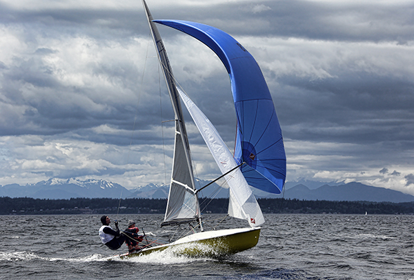 Photo by Jan Anderson    janpix.smugmug.com     Sailing legend and Melges 24 sailor Carl Buchan on the wire with wife Carol - FD Gold; World champ: Star, 5o5, Laser,.. Look for the Carl, Carol and sailing legend Bill Buchan at the US Melges 24 Nationals in Lake Geneva.
