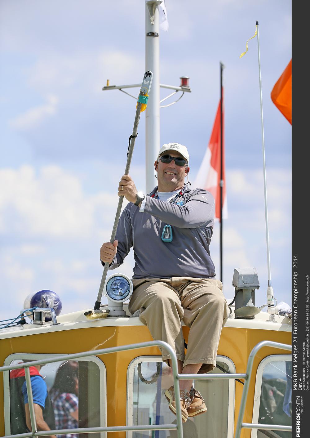 Hank Stuart at the 2014 Melges 24 European Championship in Hungary - photo Pierrick Contin