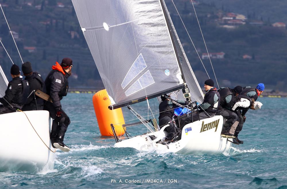 Past Corinthian World and European Champion Tõnu Tõniste_s Lenny EST790 is taking the early lead in Portoroz - photo (c) Andrea Carloni