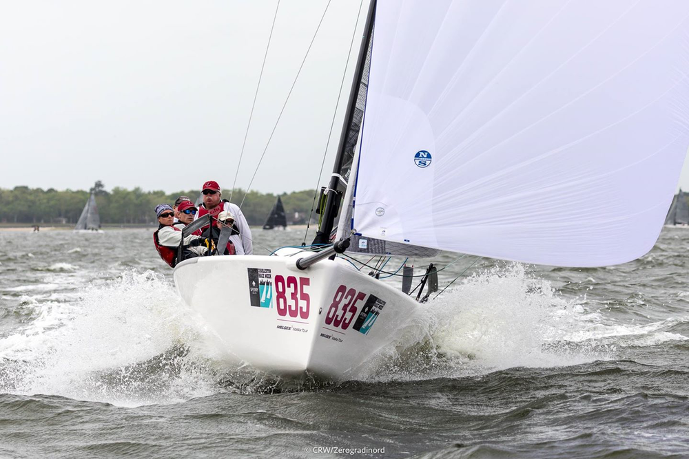 MiKEY USA835, skippered by Kevin Welch, completed the Melges 24 overall podium of the 2019 Charleston Race Week. Photo Zerogradinord / Mauro Melandri
