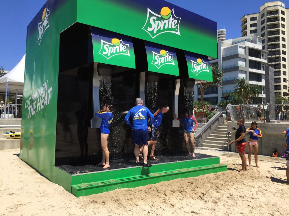 Sprite Beach Shower, Surfers Paradise, 2015