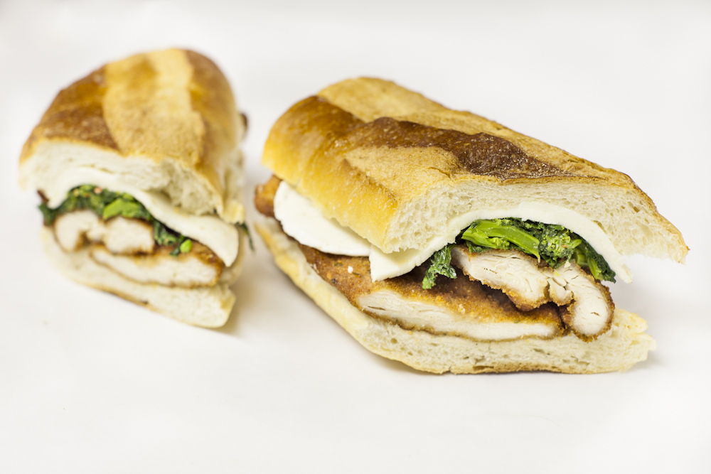Chicken Cutlet Sandwich with Broccoli