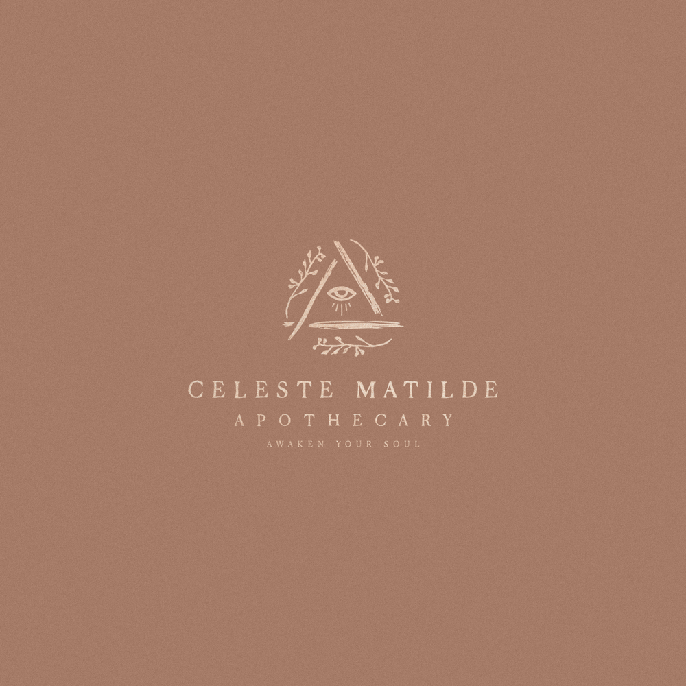 Celeste Matilde Apothecary Logo by Mel Volkman Esoteric Logo Esoteric Branding Apothecary Brand Witchy Logo Witchy Brand Magical Logo Rustic Logo Hand Drawn Logo Hand Lettered Logo-2.png